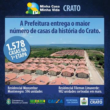A Prefeitura entrega o maior n�mero de casas da hist�ria do Crato