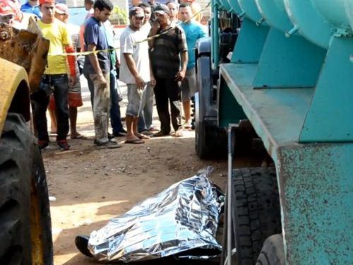 Tragédia: Mecânico morre após ser atingido por caçamba de caminhão
