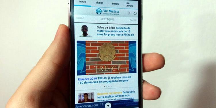 dce009afe1e5 Novo app do site Miséria foi lançado nessa terça-feira (23) (Foto: Kléber  Ferreira/Agência Miséria)