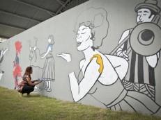 Grafitagem dá o tom da decoração do Carnaval do Recife 2017