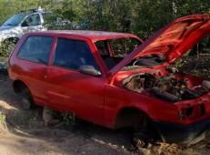 DESMONTE NO CARIRI Fiat semi desmontado é encontrado em Antonina do Norte e polícia de Crato recupera moto roubada.