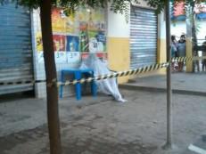 Homem foi morto a tiros na mesa de um bar perto do Mercado Triângulo em Juazeiro