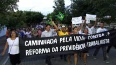 Representantes da Igreja Católica e fiéis se manifestaram contra a reforma da Previdência e Trabalhista