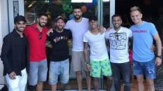Neymar comemora aniversário do filho com companheiros do Barça