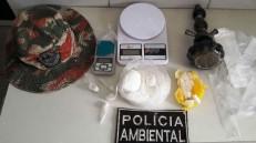 Polícia apreende em Caririaçu cerca de 200 gramas de cocaína, mas o dono escapuliu