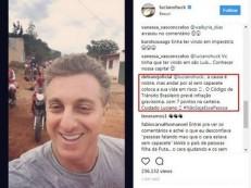 Luciano Huck leva bronca do Detran-RJ por não usar capacete em motocicleta