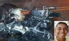 Morre um dos pilotos da colisão com incêndio e explosões de motos em Várzea Alegre