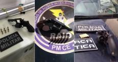 Cinco pessoas presas e seis armas de fogo apreendidas em Juazeiro, Crato e Barbalha