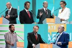 Líder nas pesquisas, Bolsonaro é criticado por adversários em debate