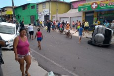 Três pessoas ficam feridas em acidente em Maracanaú