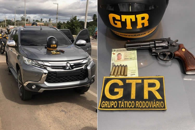 Polícia em Juazeiro pára na bala carro de empresário que dirigia embriagado e armado