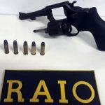 Grupo foge do RAIO em Juazeiro abandonando um revólver