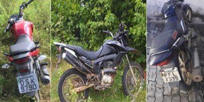 PM recupera duas motos roubadas em Juazeiro e outras duas em Mauriti e Assaré