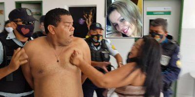 Veja o flagrante da prisão do acusado de matar a ex-mulher