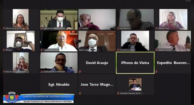 Câmara de Juazeiro do Norte debate sobre pandemia de Covid-19 e isolamento social