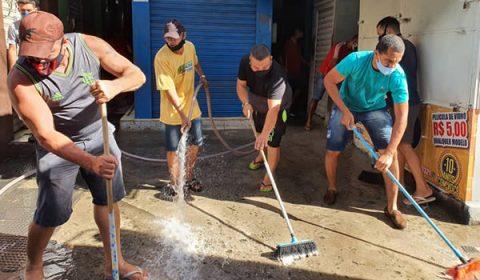 Tradicional Beco da Cebola de Juazeiro é higienizado e pode ser reabrir na segunda, 8