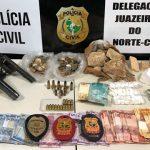 Acusado de vários homicídios em Juazeiro é preso com armas, muita cocaína e crack