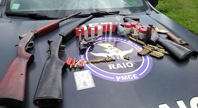 Presos mais cinco e apreendidas oito armas de fogo em Juazeiro, Mauriti e Assaré