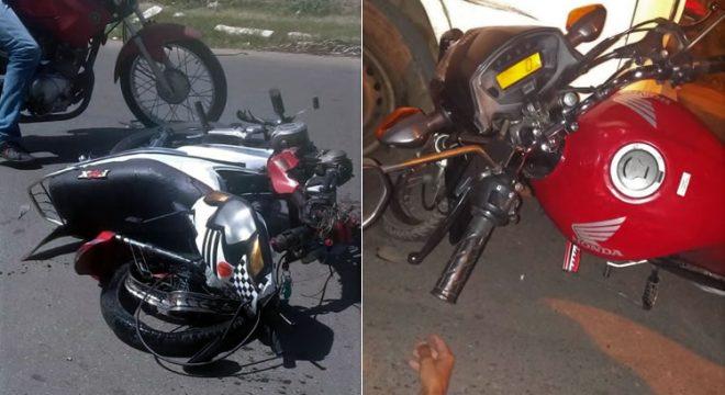 Jovem morre em acidente com moto em Barbalha e três feridos em Crato