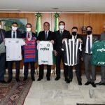 Presidentes do Ceará, do Fortaleza e de outros clubes da Série A se reúnem com Bolsonaro