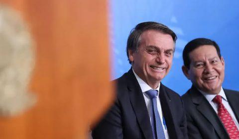 O presidente Jair Bolsonaro e o vice Hamilton Mourão