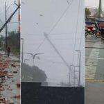 Forte ventania causa destruição e derruba torre em São Luís