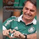 Bolsonaro não se manifesta sobre 100 mil mortos por Covid-19, mas parabeniza título do Palmeiras