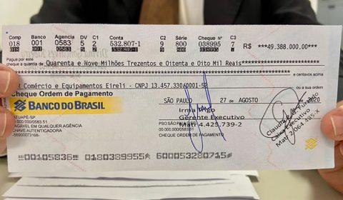Justiça revoga prisão preventiva de idoso que tentou compensar cheque de quase R$50 milhões
