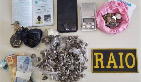 Jovem tenta fugir do RAIO em Juazeiro abandonando drogas, mas não deu