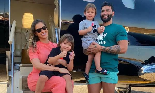 Gusttavo Lima não estaria visitando os filhos por causa de ex-sogra e ex-cunhado