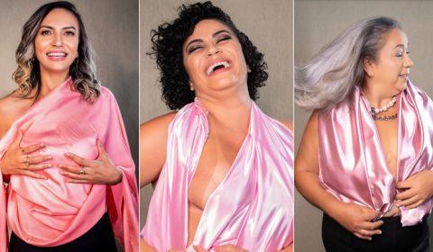 Exposição 'Todos contra o câncer de mama' no La Plaza Shopping nesta segunda, 26