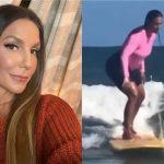 Ivete Sangalo salva menino de se afogar enquanto surfava com o filho na Bahia