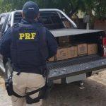 PRF prende cinco pessoas com carga saqueada de carreta que tombou na BR-222