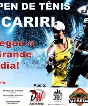 1º Open de Tênis Cariri inicia nesta quarta-feira (2) com premiação de até R$ 1mil