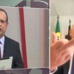 Senador da Paraíba faz gesto obsceno em entrevista ao vivo sobre colega internado com Covid-19