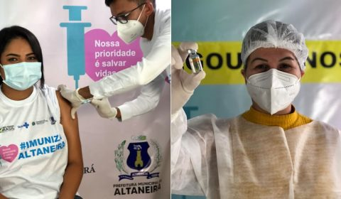 Município de Altaneira vacina os primeiros profissionais de Saúde