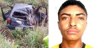 Mototaxista morre preso às ferragens em acidente de carro no município de Cedro