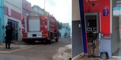 Bradesco de Granjeiro foi arrombado esta madrugada e houve princípio de incêndio