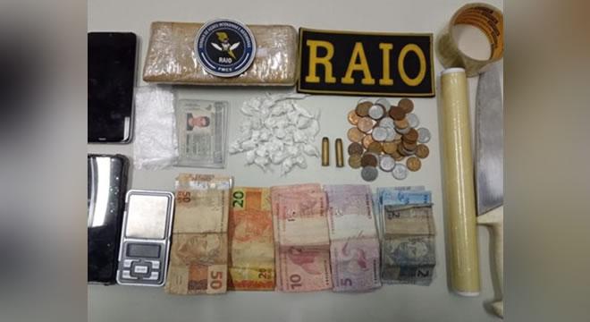 BPRaio prende dupla e apreende maconha, cocaína e munições, em Iguatu