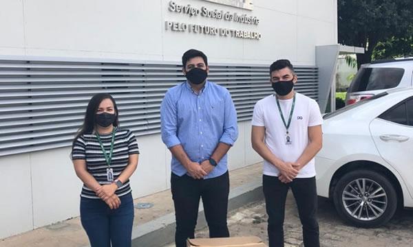 População de Altaneira recebe mil máscaras doadas pelo Sesi Ceará contra Covid-19