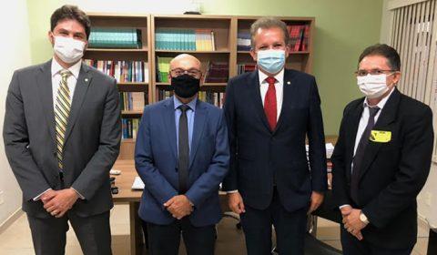 Deputado Guilherme Landim e prefeitos do Cariri cumprem agenda em Brasília