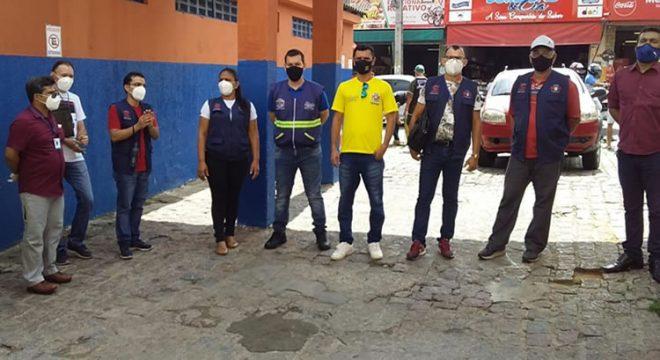Vigilância Sanitária e Semasp de Juazeiro orientam sobre a Covid-19 em mercados