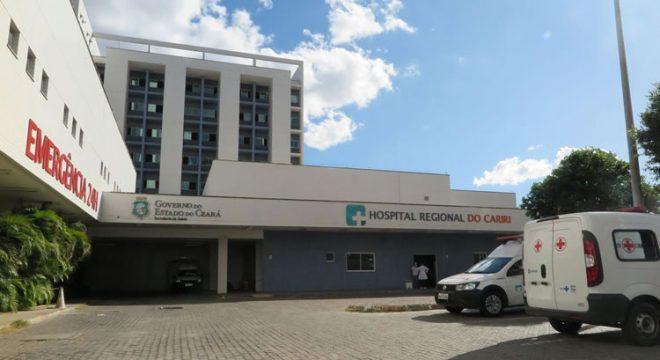 Taxa de ocupação de leitos de UTI no Hospital Regional do Cariri cai e atinge 87%