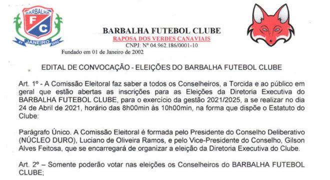 Barbalha lança edital de convocação para eleição da nova diretoria executiva