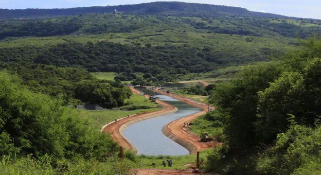 Cinturão das Águas do Ceará recebe aporte do Rio São Francisco nesta segunda-feira (1)