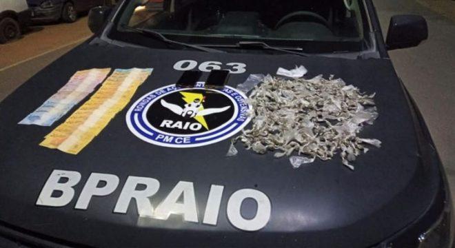 Cinco presos e muita droga apreendida em Barbalha, Caririaçu e Crato