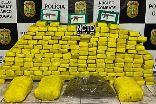 Polícia Civil no Cariri apreende 157 kg de drogas e prende dois traficantes em Jardim