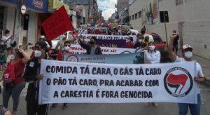 Atos contra Bolsonaro reúnem manifestantes no Interior do Ceará