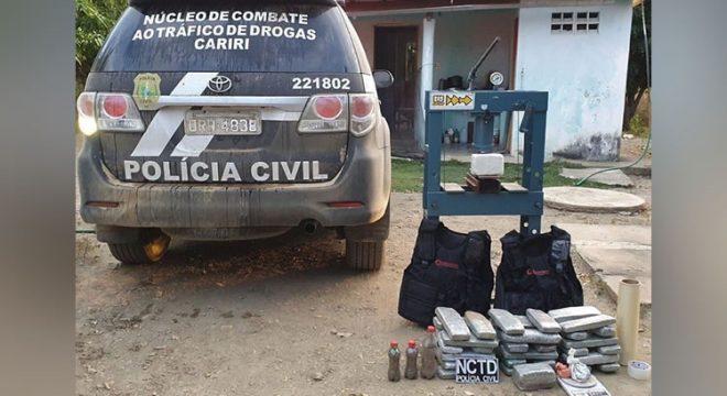 Polícia apreende muita droga em Caririaçu e destrói roça de maconha