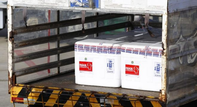 Ceará recebe nesta quarta-feira mais 137 mil doses de vacinas contra Covid-19